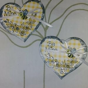 Stamped Art bundle Pin Bee Mine floral heart